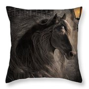 Friesian Glow Throw Pillow
