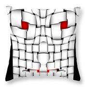 Frightening Mask Throw Pillow