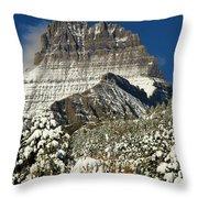 Frigid At The Peak Throw Pillow