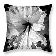 Frills And Hibiscus Flowers Throw Pillow