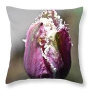 Fringe Blossom Throw Pillow