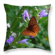 Fritillary Butterfly Throw Pillow