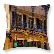 Fritzel's European Jazz Pub New Orleans Throw Pillow