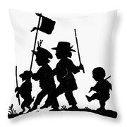 Fr�lich Playing Children Throw Pillow