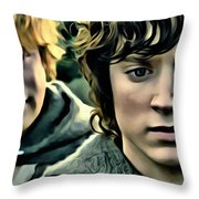 Frodo And Samwise Throw Pillow