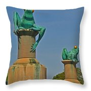 Frog Bridge Throw Pillow