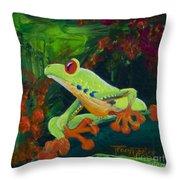 Frog Heaven Throw Pillow