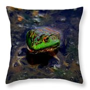 Froggy Smile Throw Pillow