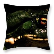 Frog's Eye Of Sauron Throw Pillow