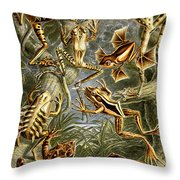 Frogs Frogs And More Frogs Throw Pillow