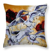 Frolic Throw Pillow by Vickie Warner