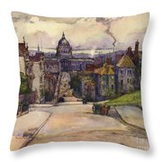 From A Hilltop In San Francisco By  Rowena Meeks Abdy Early California Artist C 1906 Throw Pillow