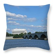 From Across The River Throw Pillow