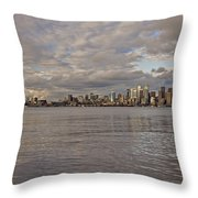 from Alki Beach Seattle skyline Throw Pillow