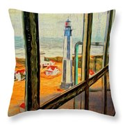 From Cape Henry Lighthouse Throw Pillow