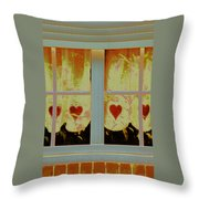 From French Riviera Window With Love Throw Pillow
