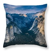 From Glacier Point Throw Pillow