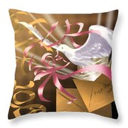 From Mom And Dad With Love Throw Pillow