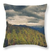 From Moro Rock Of The Sequoias Throw Pillow