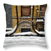 From My Fire Escape - Arches In The Snow Throw Pillow