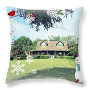 From Our House To Yours Throw Pillow