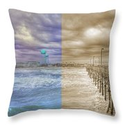 From Past To Present Throw Pillow
