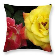 Red To Yellow Throw Pillow