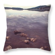 From The Depth Of Silence. Ladoga Lake  Throw Pillow