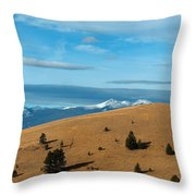 From The Hills To The Mountains Throw Pillow