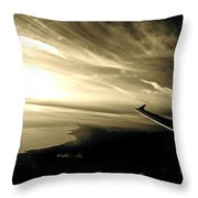 From The Plane Throw Pillow by Gwyn Newcombe