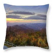From The Top Of Brasstown Bald Throw Pillow by Debra and Dave Vanderlaan