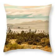 From Top Of The Mountain At Joshua Tree National Park Throw Pillow