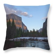 From Valley View At Sunset Throw Pillow