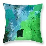 From Winter Blues To Spring Greens Throw Pillow by Heidi Smith