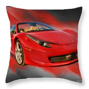 Front 2012 458 Spider  Throw Pillow