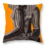 Front And Side Egyptian Pharoah Throw Pillow