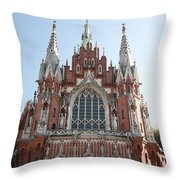 Front Entrance To St Joseph Church Krakow Throw Pillow