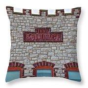 Front Of Calumet Hotel-1887  In Pipestone-minnesota Throw Pillow