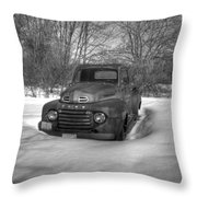 Front Of Old Timer Throw Pillow