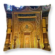 Front Of Saint Sophia's Museum In Istanbul-turkey Throw Pillow