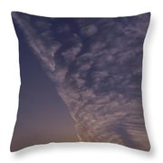 Front Passing Through Sky Southern Alps Throw Pillow