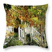 Front Porch Color Throw Pillow
