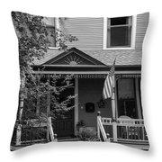 Front Porch Usa Black And White Throw Pillow