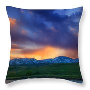 Front Range Light Show Throw Pillow by Darren  White