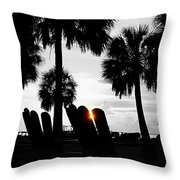 Front Row For Sunset Throw Pillow