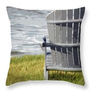Front Row Seat Throw Pillow