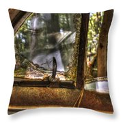 Front Side Window Antique Car Throw Pillow
