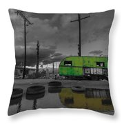 Front Yard Path Black And White Throw Pillow