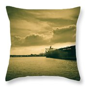 Frontier Ambition Ship Throw Pillow
