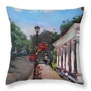 Frontier House In Lewiston  Throw Pillow